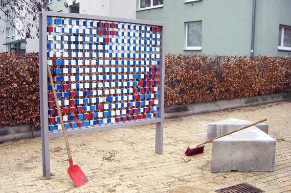 Pixelwand in St. Lorenz-Süd
