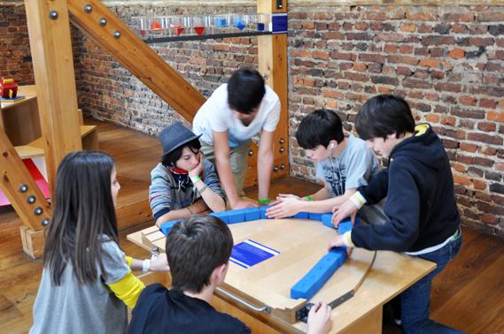 Mathematikum Giessen - Building Brick Arch