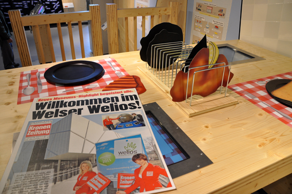 Giant Kitchen Table with Digital Plate Game- Welios in Wels - Top 10 Interactive Exhibits